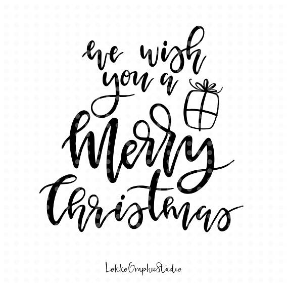 Merry christmas overlay clipart image black and white stock Merry Christmas svg, Christmas Svg, cut files, winter svg ... image black and white stock