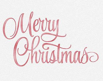 Merry christmas overlay clipart clip freeuse Merry Christmas Watercolor Photo Overlay - Red, White, Green ... clip freeuse