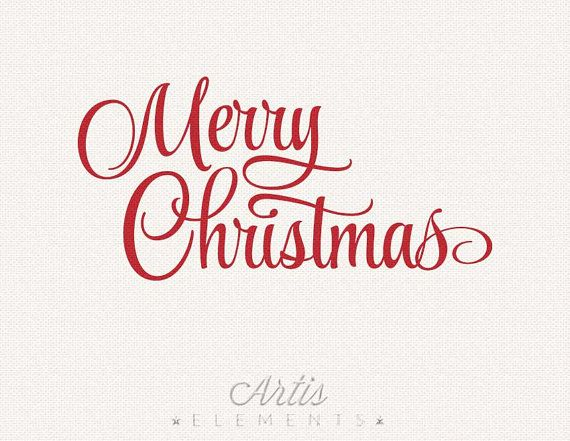 Merry christmas overlay clipart graphic free download Merry Christmas Clipart - Typography Red Script Photo ... graphic free download