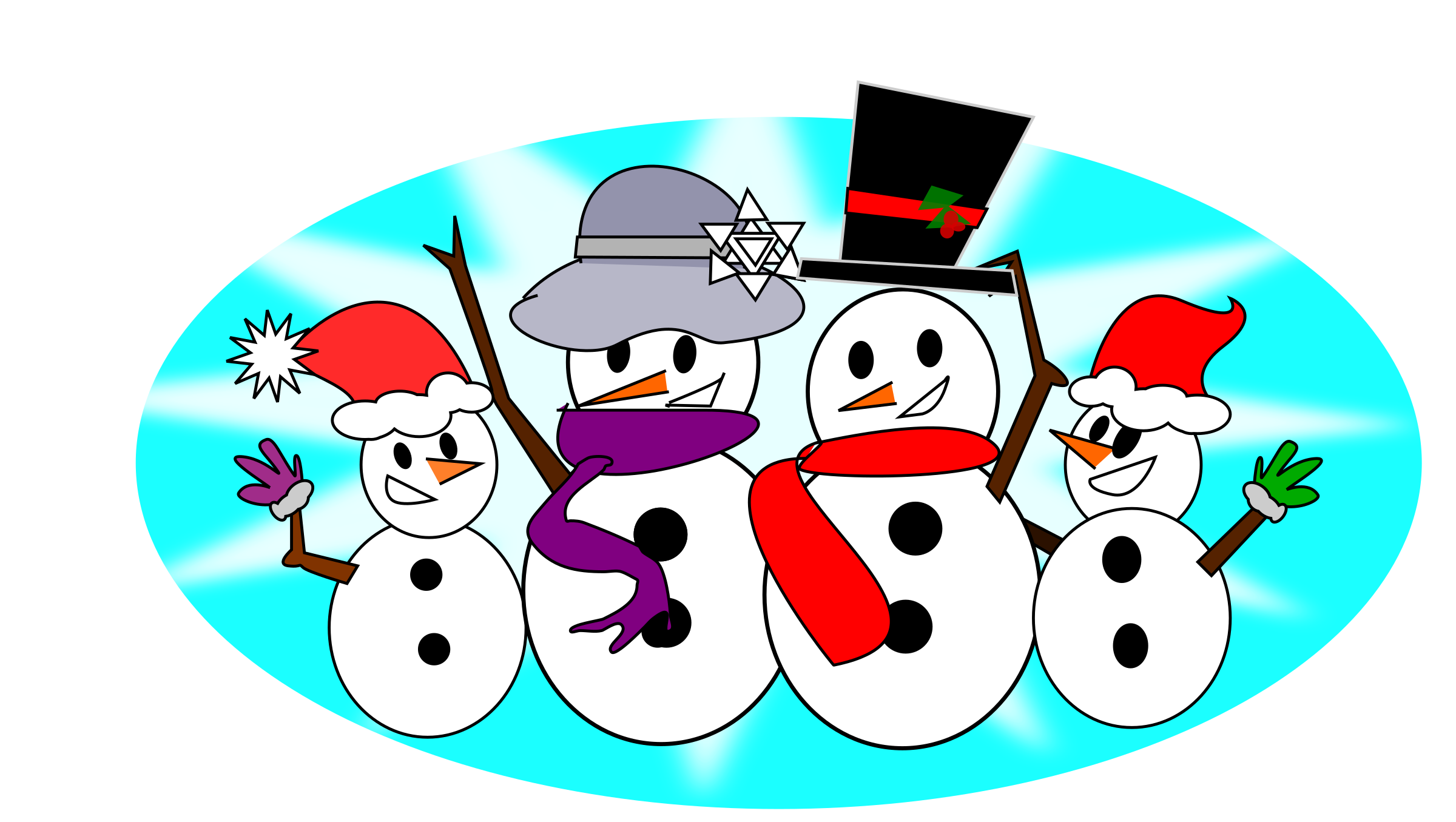 Merry christmas snowman clipart image freeuse library Clipart - Snowman Family image freeuse library