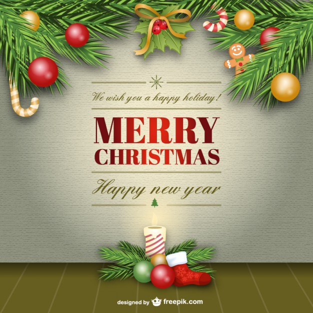 Merry christmas vector free download clipart free download Elegant Merry Christmas card vector Vector | Free Download clipart free download