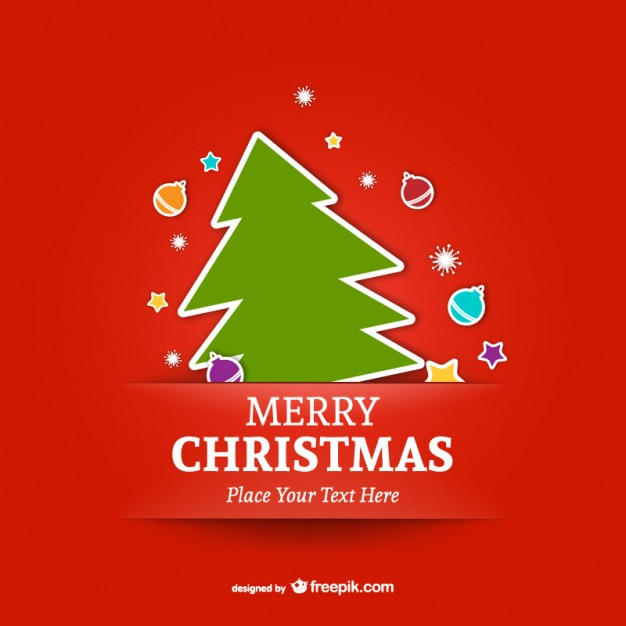 Merry christmas vector free download clipart download Merry Christmas template with tree Vector | Free Download clipart download