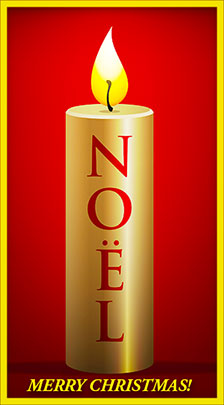 Merry christmas with gold and red candles clipart image royalty free stock Free Christmas Candle Graphics - Christmas Candle Animations ... image royalty free stock