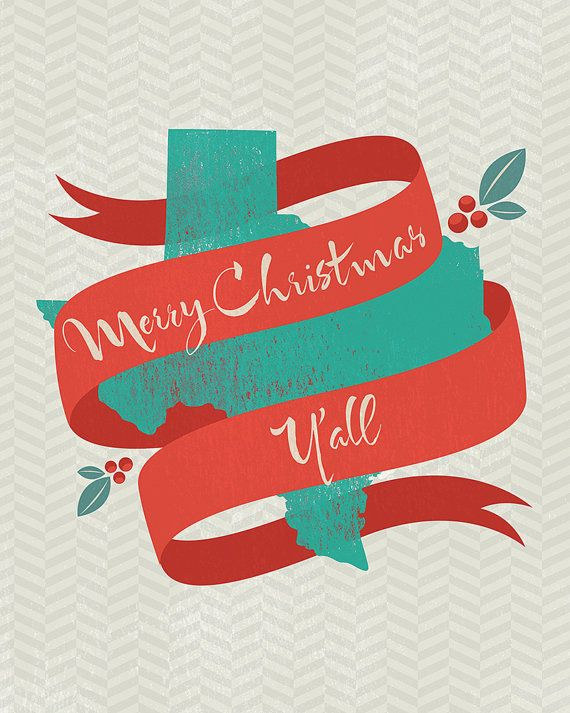 Merry christmas y all clipart image transparent library Merry Christmas Y\'all TEXAS Print at home by owlloveart on ... image transparent library
