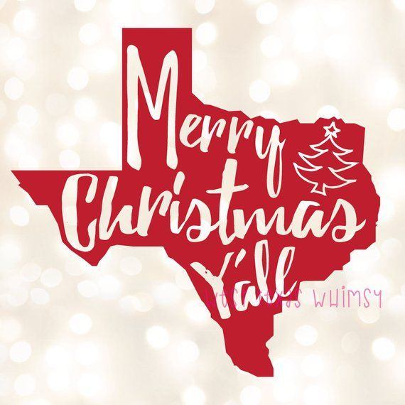 Merry christmas y all clipart vector free library Merry Christmas Y\'all SVG, Texas Christmas SVG, Southern ... vector free library