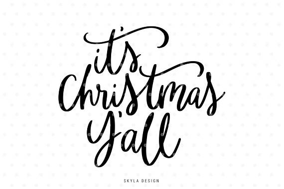 Merry christmas y all clipart clipart free download It\'s Christmas Y\'all Svg, Christmas SVG file, Christmas ... clipart free download