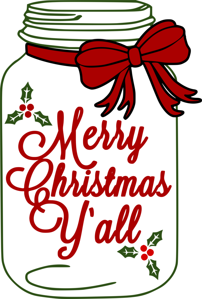 Merry christmas y all clipart png download Mason Jar- Merry Christmas Y\'all – A Little Bit of Bling and ... png download