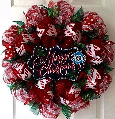 Mesh holiday wreath clipart clip art freeuse Check it out > Christmas Door Wreaths Clipart | buffalo ... clip art freeuse