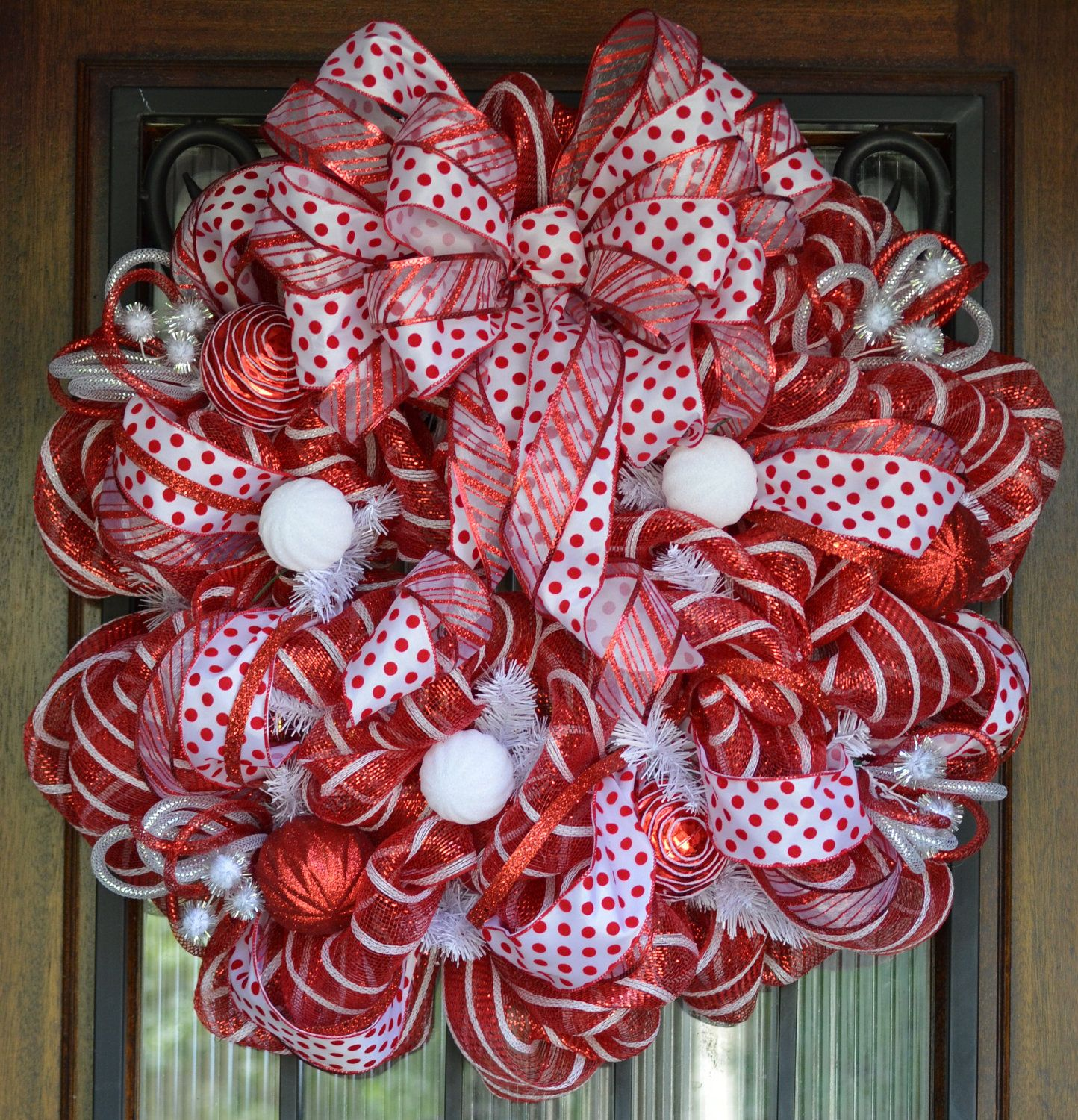 Mesh holiday wreath clipart clip royalty free download Image detail for -Red and White Christmas Deco Mesh Wreath ... clip royalty free download