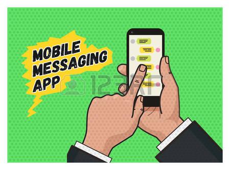 Message app clipart jpg 0 Messaging App Stock Vector Illustration And Royalty Free ... jpg