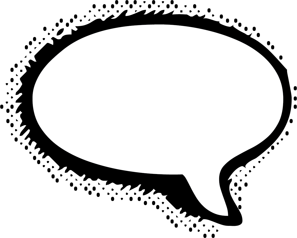 Comic book speech bubble clipart image black and white download Message clipart free - ClipartFest image black and white download