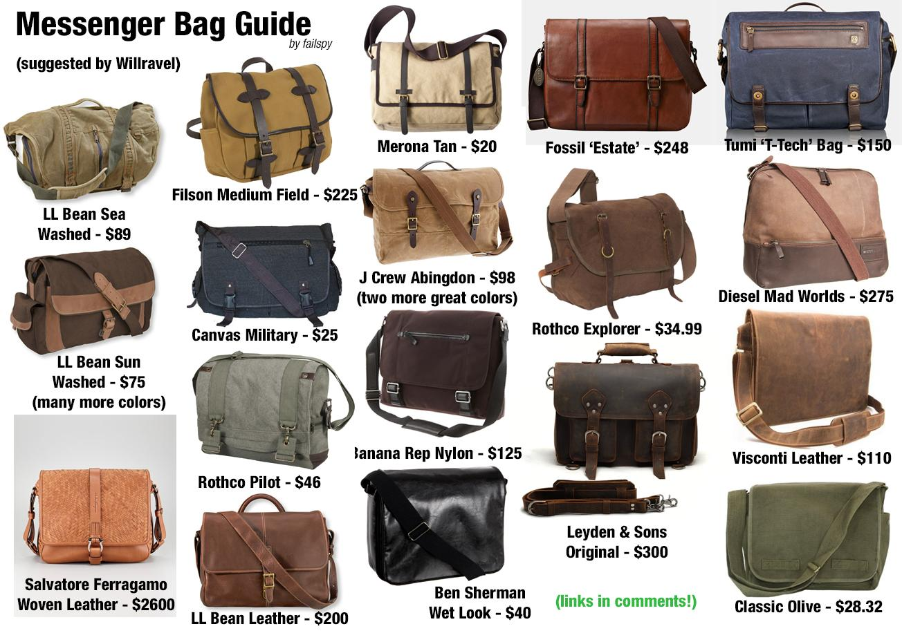 Messenger bags banner free library MFA Bag Guide 2.0 : malefashionadvice banner free library