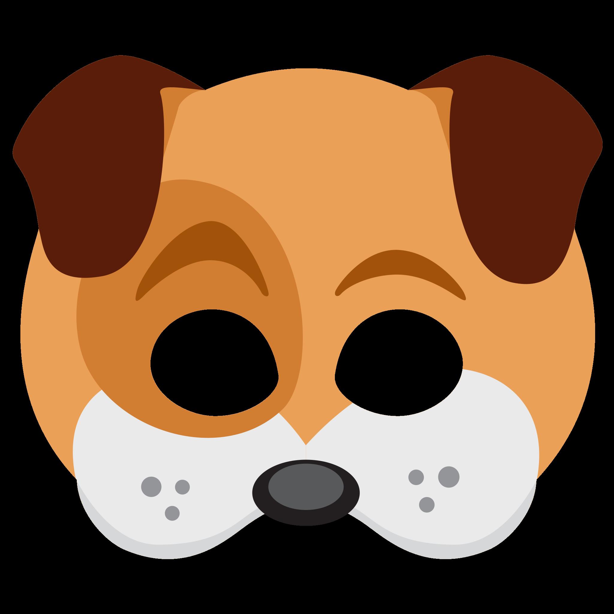 Messenger clipart jpg free library Dog Face Sticker Mask Png Snapchat Messenger jpg free library