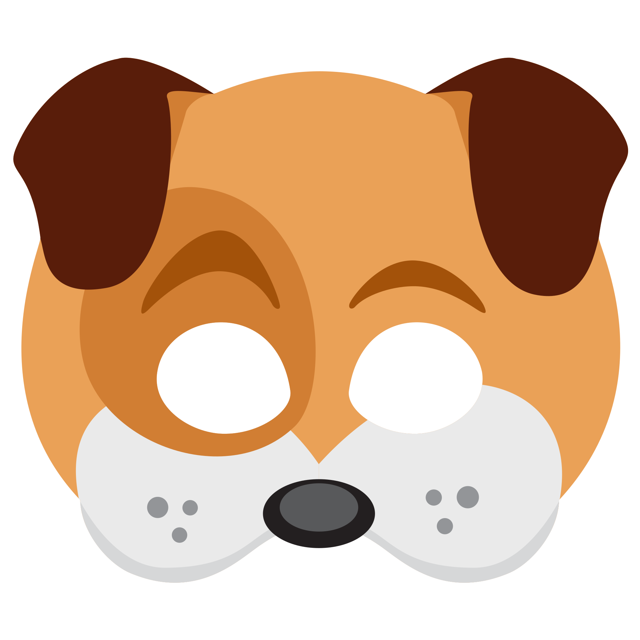 Face sticker png snapchat. Dog mask clipart