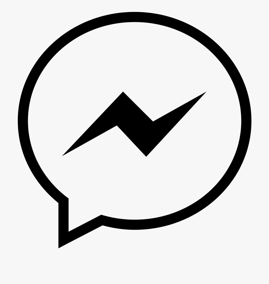 Messenger icon clipart banner black and white stock Messenger White Png - White Facebook Messenger Icon #669529 ... banner black and white stock