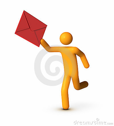 Messenger person clipart clip art library stock Delivering Envelope Stock Photos - Image: 20545553 clip art library stock