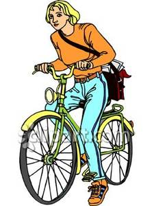 Messenger person clipart clip free library on a Bike with a Messenger Bag - Royalty Free Clipart Picture clip free library