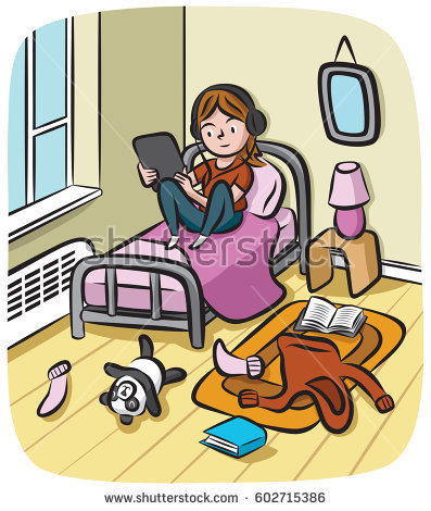 Messy bedroom clipart graphic Cartoon Messy Room Group with 48+ items graphic