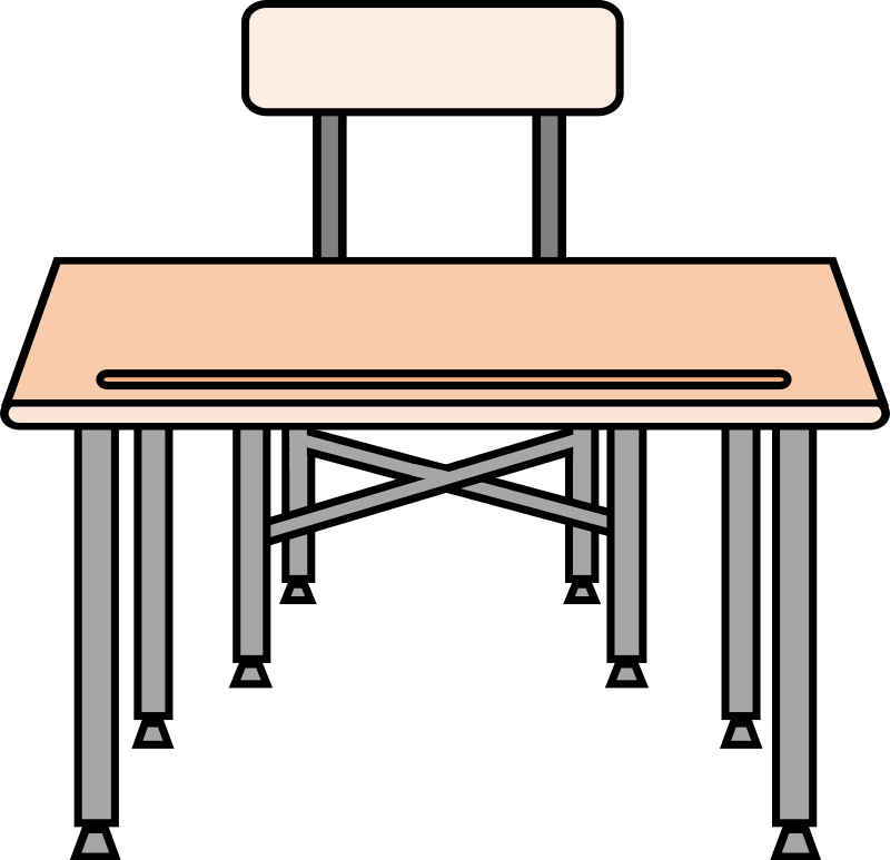 School desk clipart black and white picture black and white stock 28+ Collection of Empty School Desk Clipart | High quality, free ... picture black and white stock