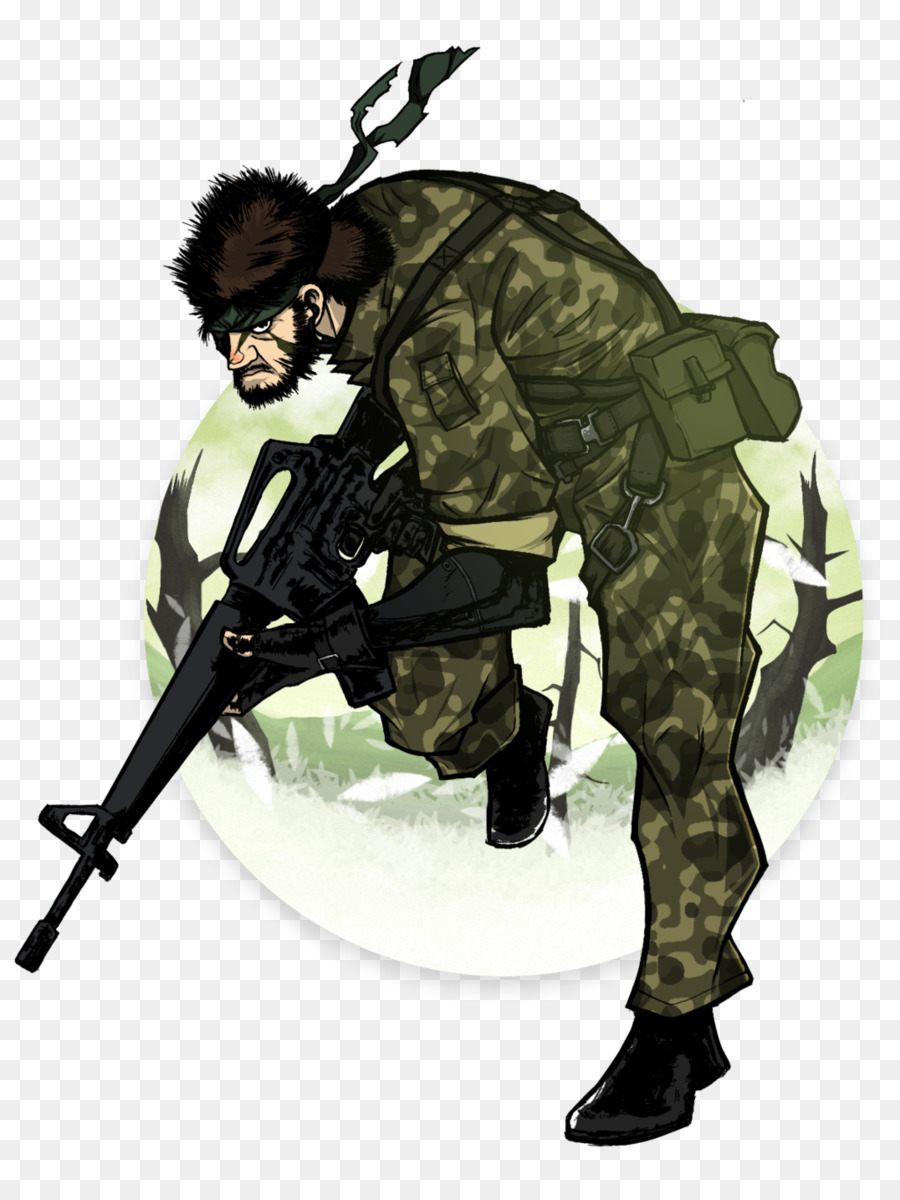 Metal gear solid 3 clipart clip art black and white download Soldier Cartoon clipart - Art, Drawing, Illustration ... clip art black and white download