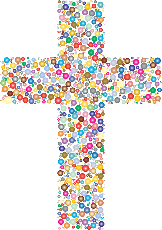 Mexican christian cross clipart image black and white Clipart - Colorful Cross Circles 2 image black and white