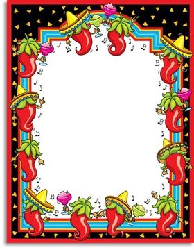 Mexico clipart borders graphic Free Fiesta Borders Cliparts, Download Free Clip Art, Free ... graphic