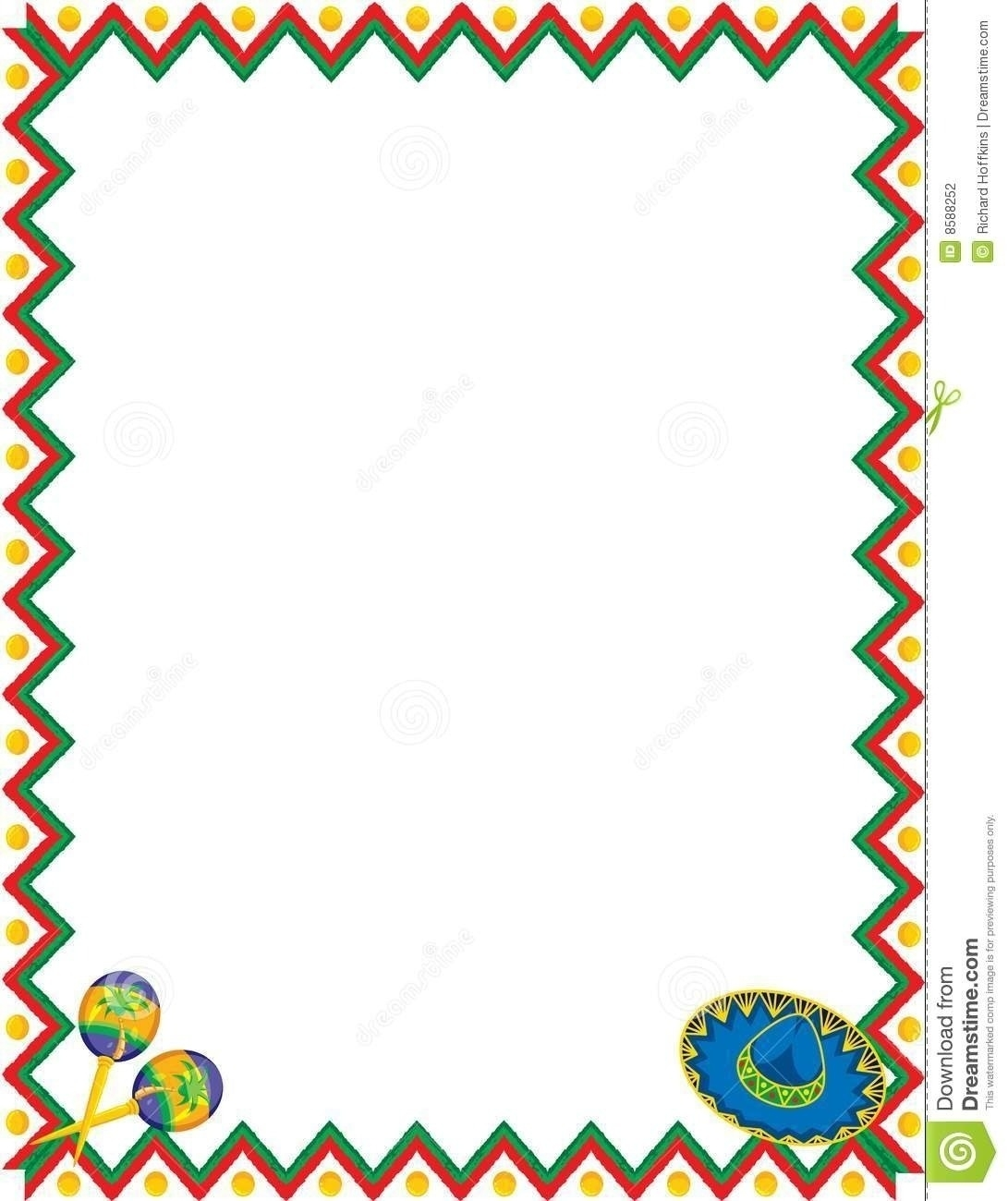 Mexican fiesta border clipart transparent stock Mexican Menu Border Design | Writings and Essays Corner transparent stock