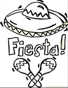 Mexican fiesta clipart free black and white picture Fiesta clipart black and white 4 » Clipart Station picture