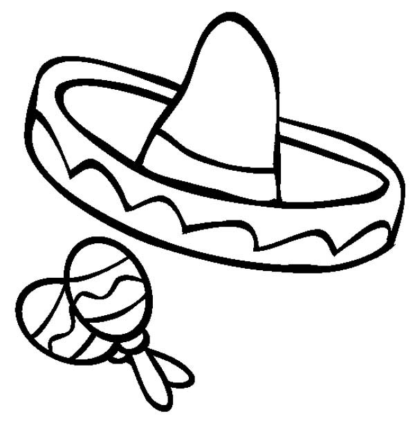 Mexican fiesta clipart free black and white picture transparent download Free Sombrero And Maracas, Download Free Clip Art, Free Clip ... picture transparent download
