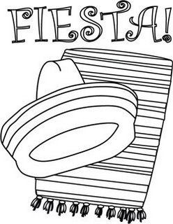 Mexican fiesta clipart free black and white picture royalty free library Enjoy these Fiesta Coloring Pages, many of them free ... picture royalty free library