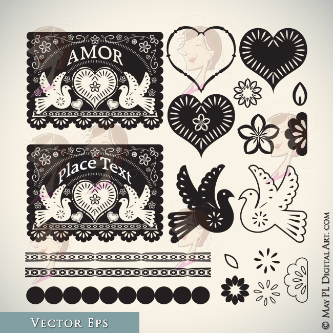 Mexican folk art clipart picture freeuse stock Mexican Theme Folk Art | Clipart Panda - Free Clipart Images picture freeuse stock