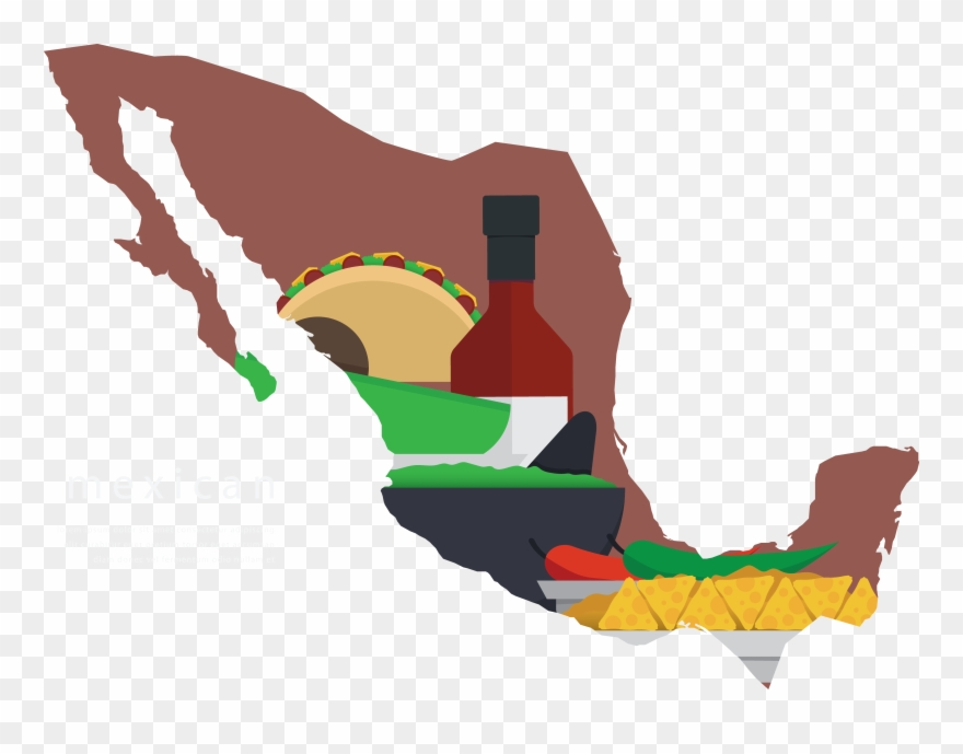 Mexican silhouette clipart black and white library Mexico Map Silhouette At Getdrawings Com Free - Mexican Flag ... black and white library