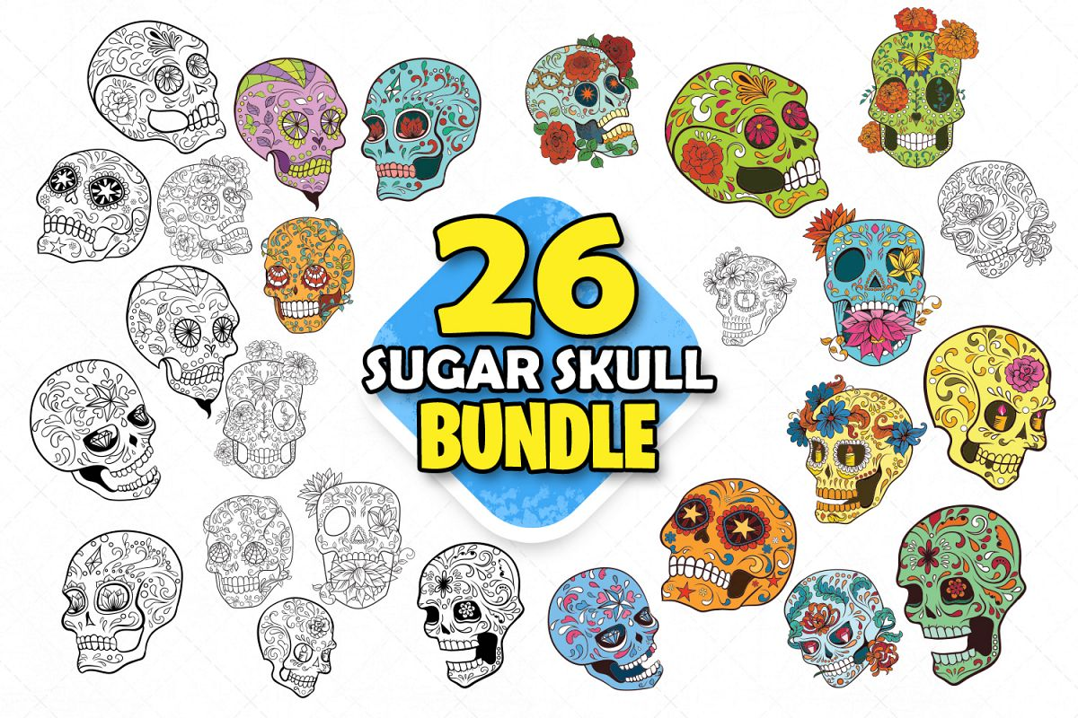 Mexican skull clipart jpg free library Sugar skull mexican folk art skulls clipart skull cut files jpg free library