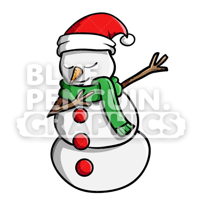 Mexican snowman clipart svg free download Snowman Dabbing Christmas Vector Cartoon Clipart Illustration svg free download