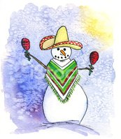 Mexican snowman clipart clip freeuse stock Mexican Snowman Playing Maracas stock vectors - Clipart.me clip freeuse stock