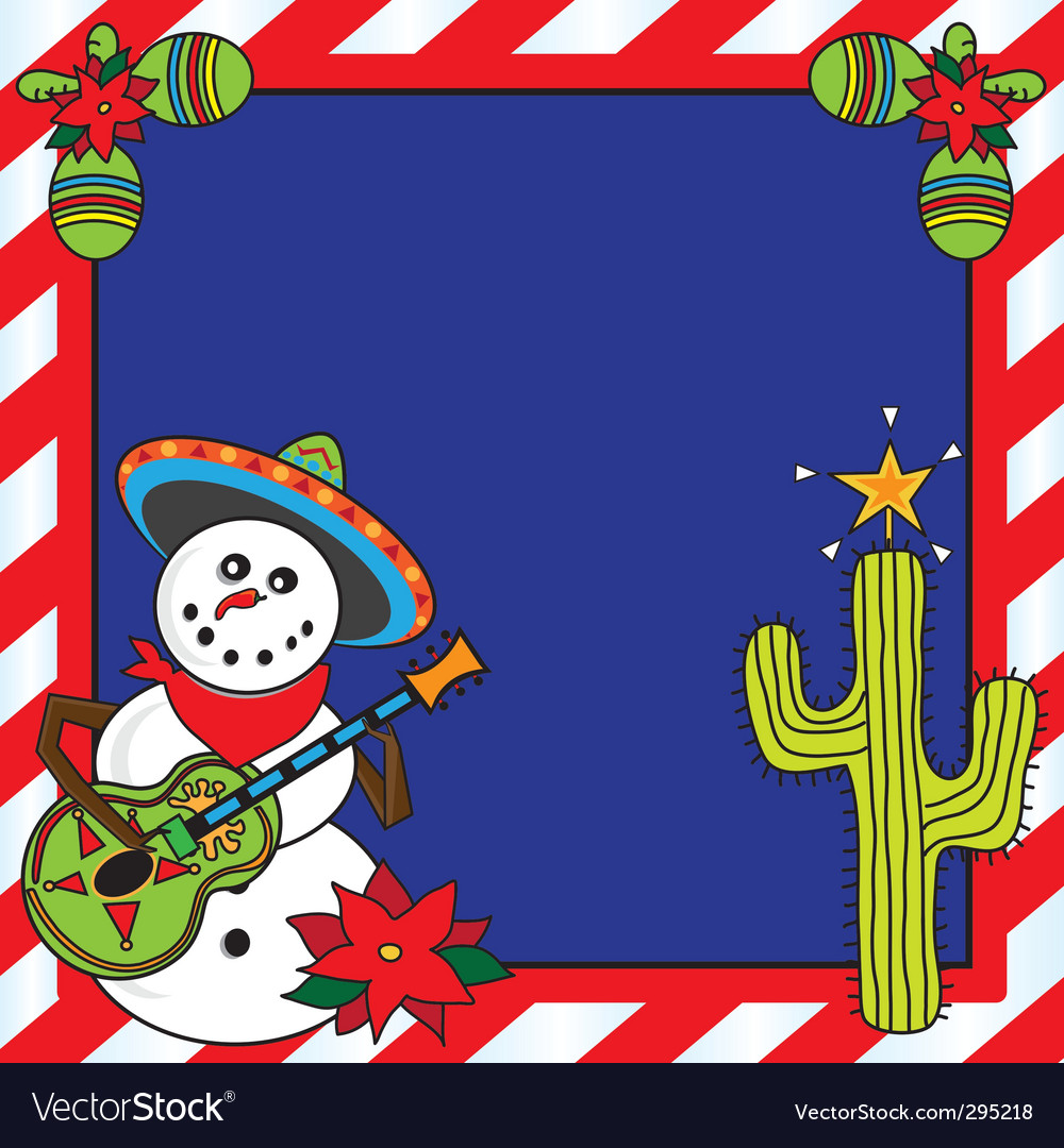 Mexican snowman clipart picture library download Mexican Christmas card picture library download