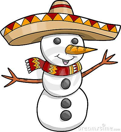 Mexican snowman clipart jpg library download Christmas Snowman | Sombrero Christmas Holiday Snowman ... jpg library download