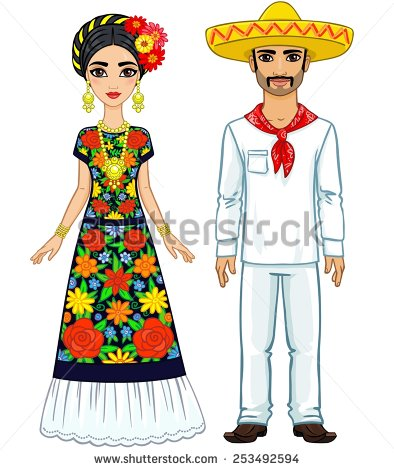 Mexican traditional dress clipart clip freeuse download Mexican dress clipart white - ClipartFest clip freeuse download