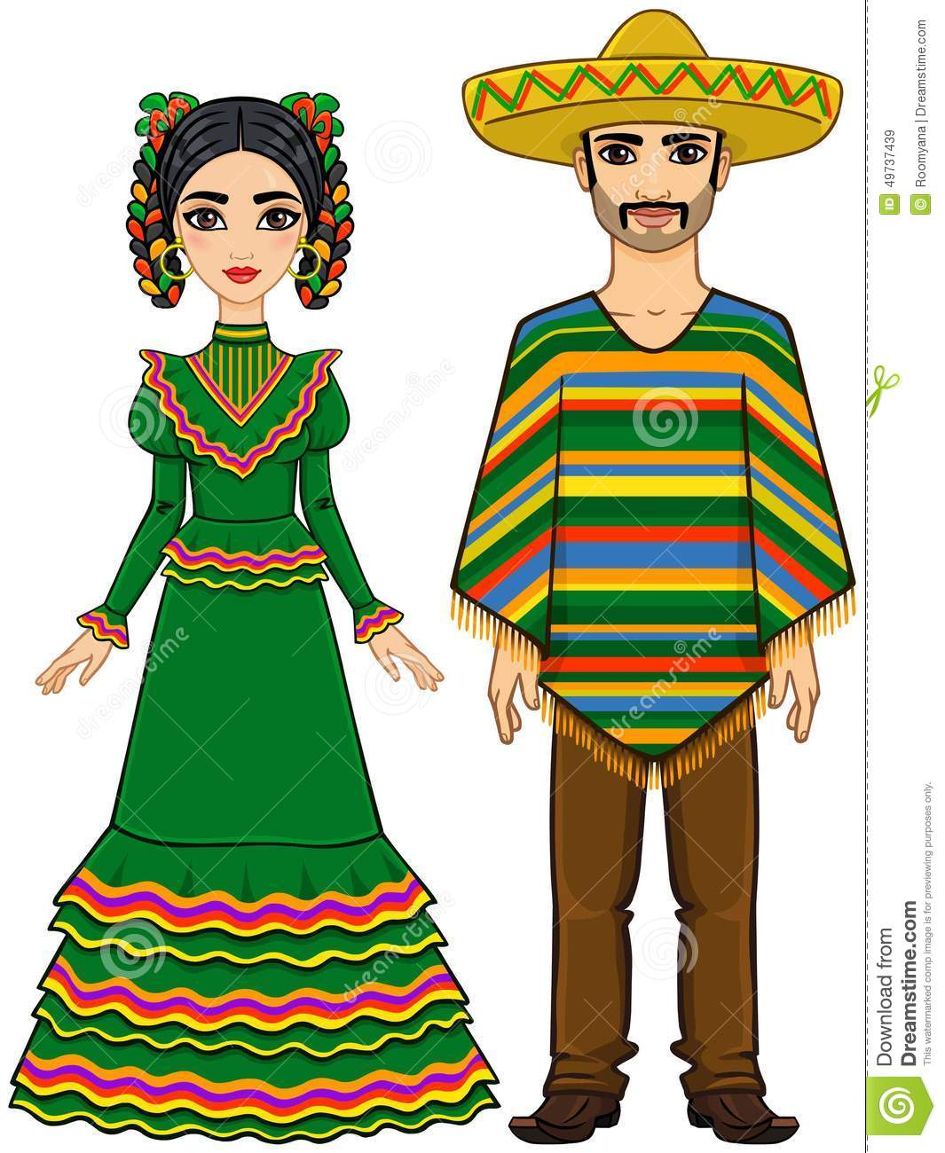 Mexican traditional dress clipart graphic black and white stock Mexican traditional dress clipart - ClipartFest graphic black and white stock