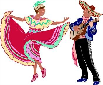 Mexican traditional dress clipart svg royalty free library Mexican Dance Clipart - Clipart Kid svg royalty free library