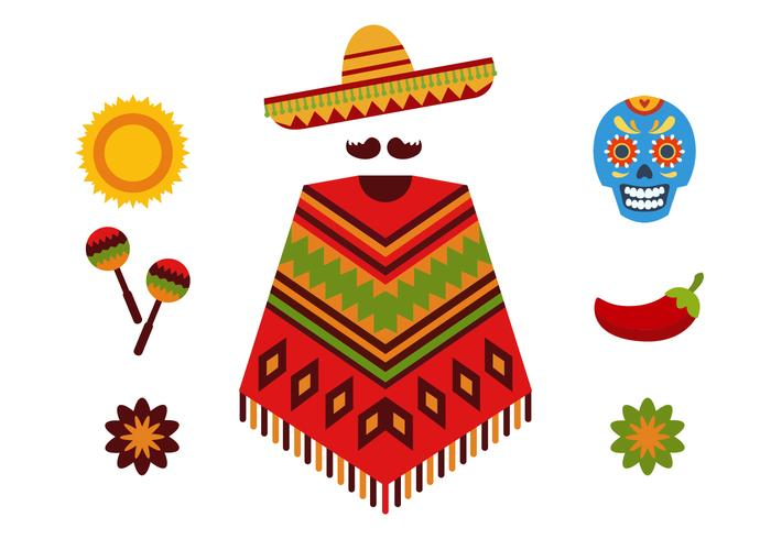 Mexican vector clipart image royalty free stock Mexican Icon Set - Download Free Vectors, Clipart Graphics ... image royalty free stock