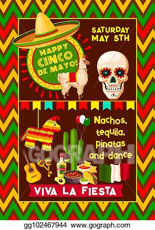 Mexican vector clipart clip download Vector Art - Mexican vector poster for cinco de mayo fiesta ... clip download