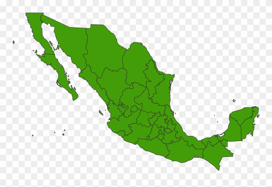 Mexico clipart map svg transparent library Mexico Png Clipart Black And White Stock - Mexico 2018 ... svg transparent library