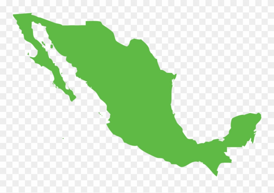 Mexico clipart map picture black and white library Mexico - Mexico Capital City Map Clipart (#3693120) - PinClipart picture black and white library