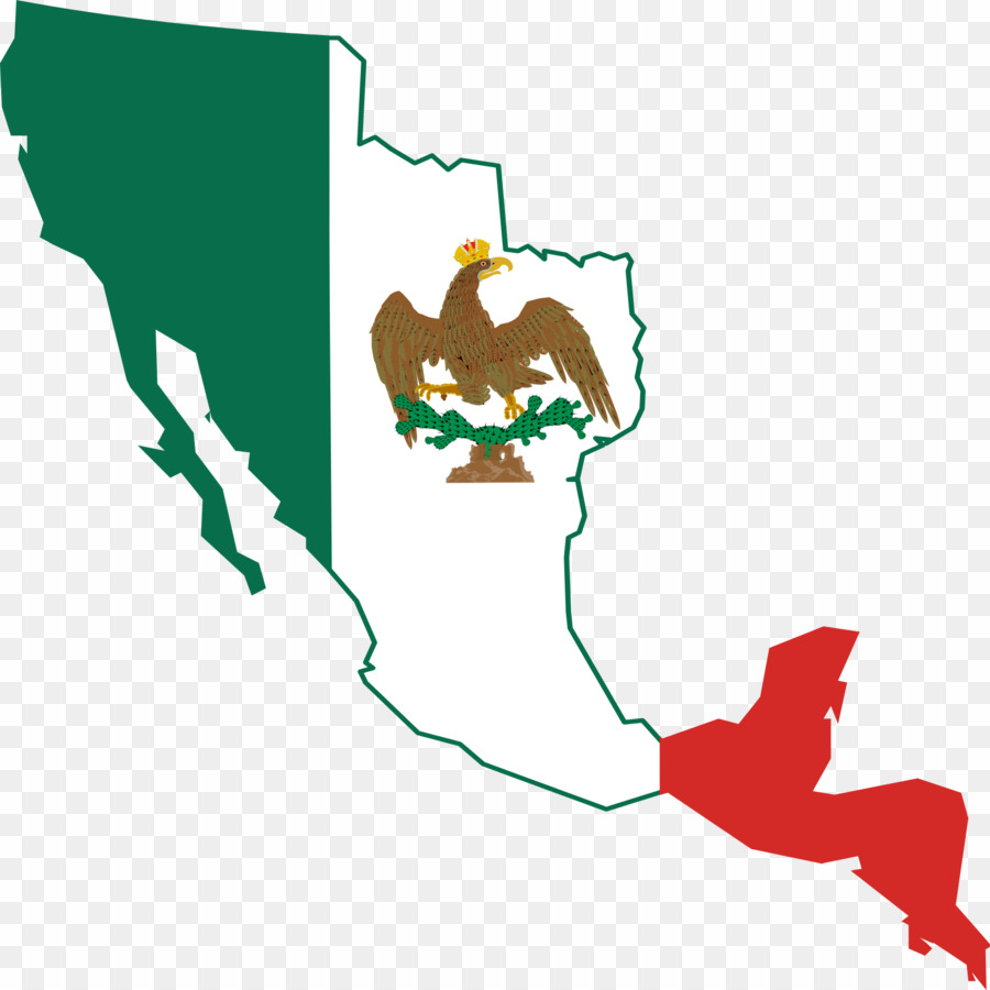Mexico clipart map png free library Mexico Flag Map PNG First Mexican Empire Second Mexican ... png free library
