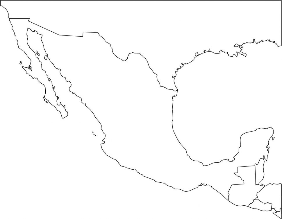 Mexico outline clipart jpg free library US Map : Coloring Page Simple Outline Map The United States ... jpg free library