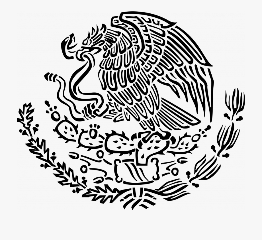 Mexico outline clipart clip art black and white stock Flag Deeptown Club - Mexican Coat Of Arms Svg #898997 - Free ... clip art black and white stock