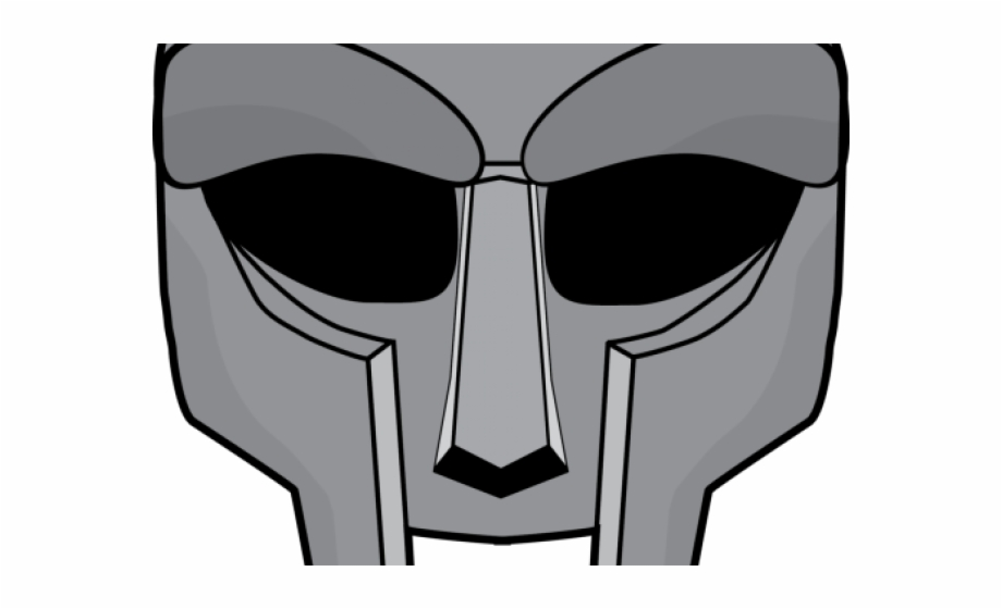 Mf doom clipart image black and white library Doom Clipart Mf Doom - Mf Doom Mask Outline, Transparent Png ... image black and white library