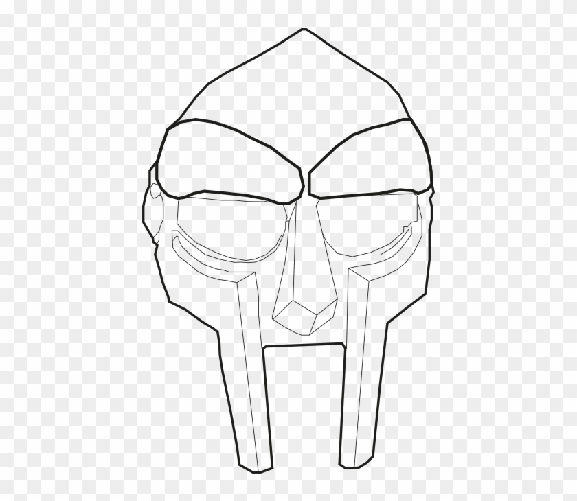 Mf doom clipart png freeuse library Doom Drawing Black And White - Mf Doom Mask Drawing, HD Png ... png freeuse library
