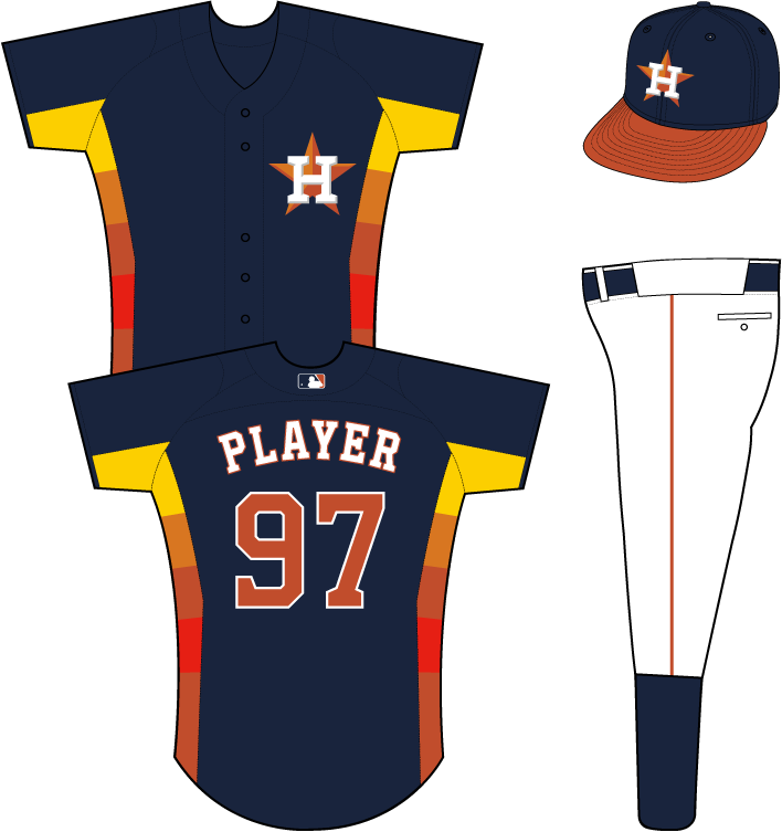 Miami marlins baseball jersey clipart picture free library Houston Astros Alternate Uniform (2013) - H-star logo on the left ... picture free library